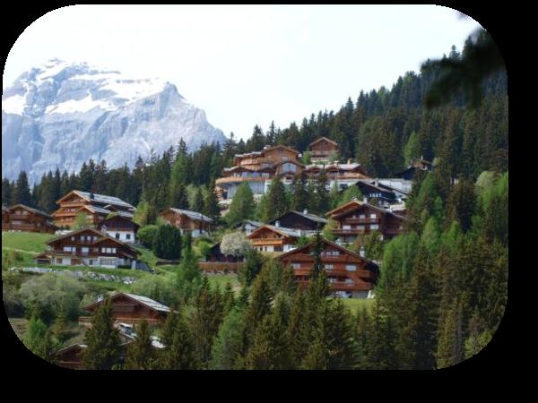 Village dans la montagne